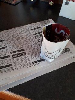 newpaper seed pot
