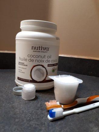 coconut oil lip balm & coconut oil toothpaste