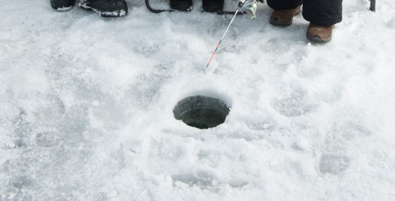 fishing hole in the ice